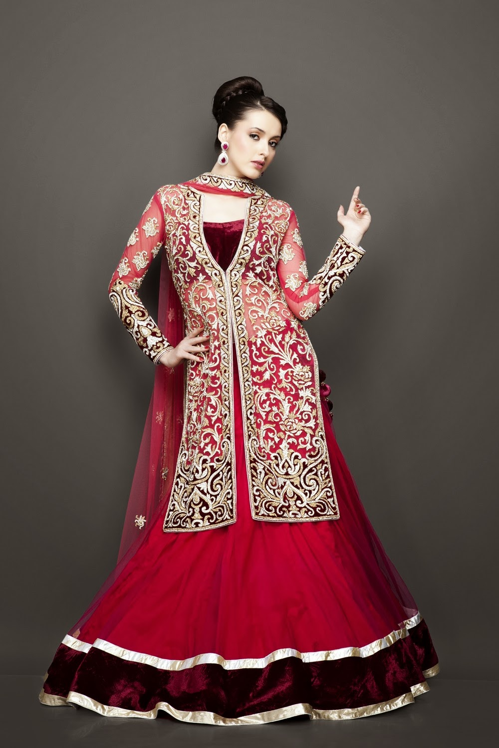 Best wedding bridesmaid lehenga outfits 2014 vega for Indian wedding dresses for girls