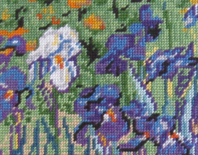 Detalle de Los lirios de Vincent Van Gogh