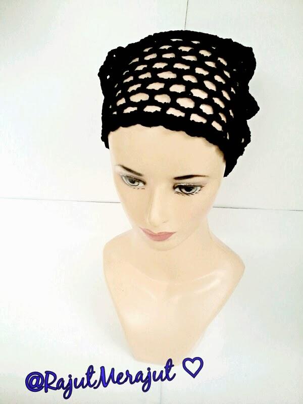 Bandana Rajut Segitiga, Crochet Headband, Headband Rajut, Bando Rajut, Bandana Rajut