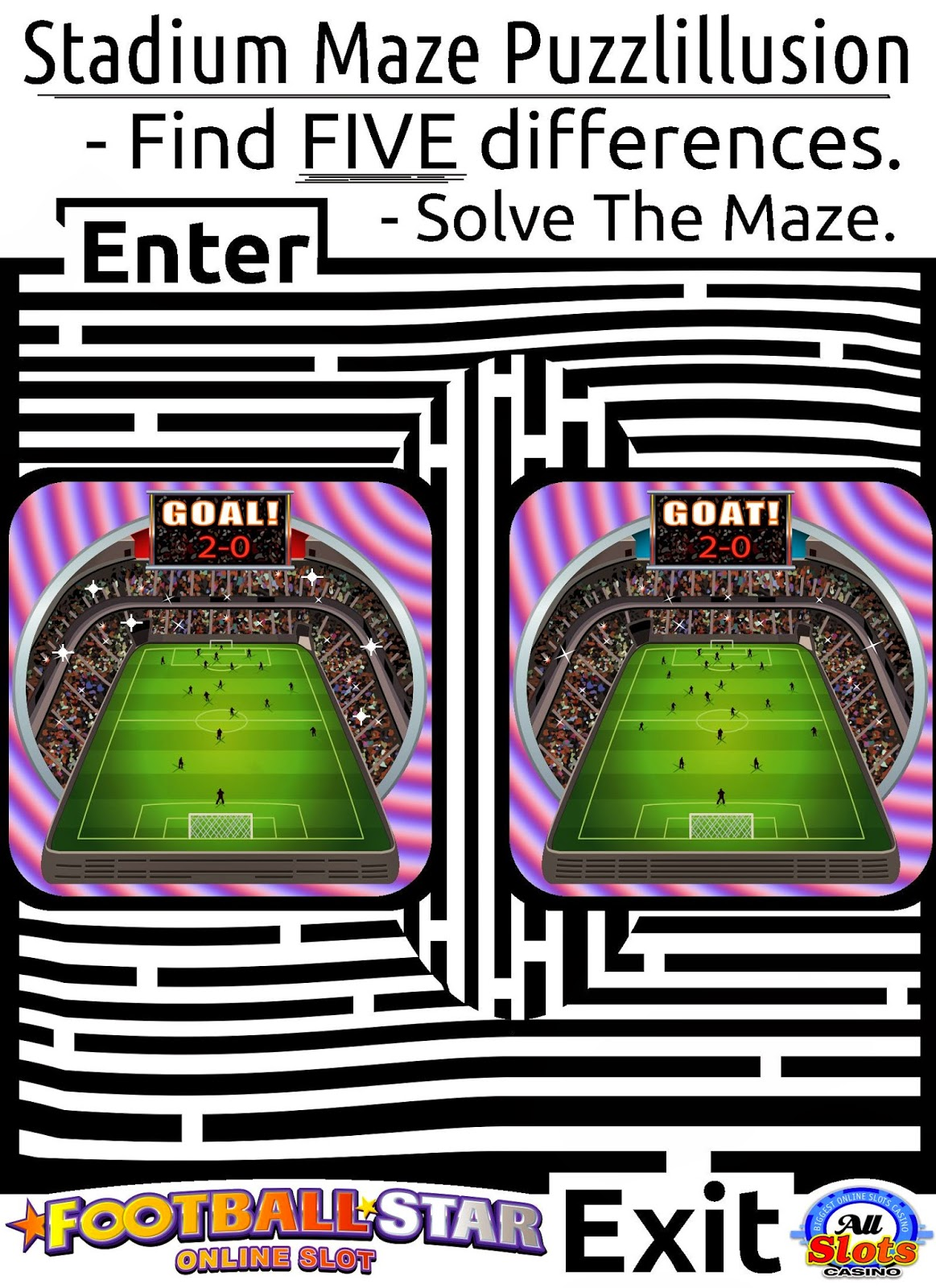spot the difference N Maze of Stadium