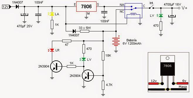fuente de 6v con bater u00eda  cargador e indicador de carga