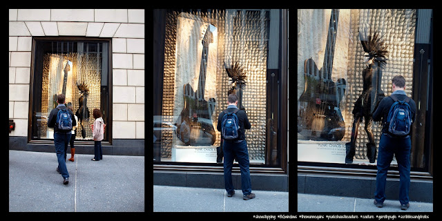 A Singular Fan of Just a Mannequin Sporting a Mohawk, #BGWindows, #NYC