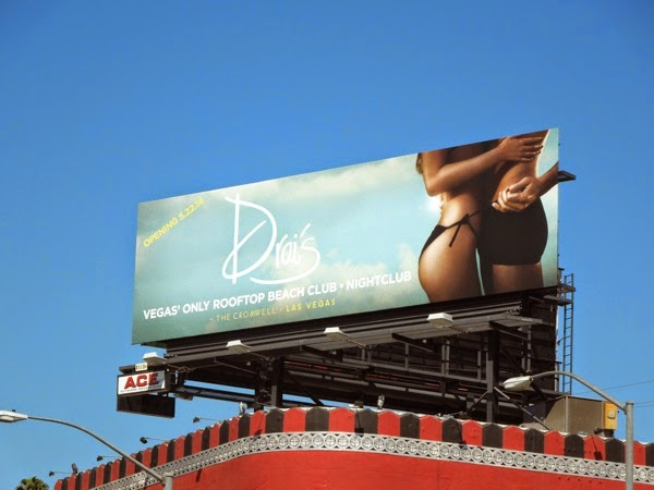 Drai's rooftop beach club Las Vegas billboard