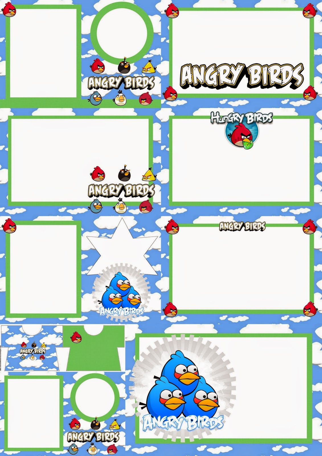 Angry birds with Clouds: Free Printable Invitations. - Oh My Fiesta ...