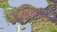 Türkiye Fiziki Haritası, Kabartma Harita, Türkiye Yükseklik Haritası