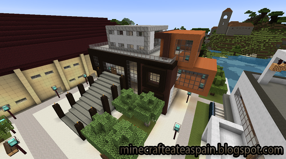Minecrafteate casas modernas en minecraft for Casa moderna para minecraft