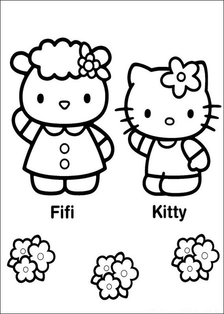 Hello Kitty Baseball Coloring Pages : Hello kitty picture pages to print and color gt disney