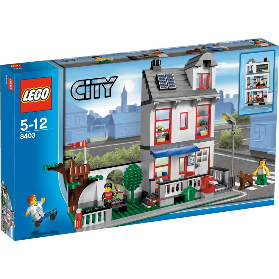 OneTWOBRICKcom Set Database LEGO 8403 City House