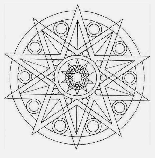 41 diagram beginner mandala coloring pages