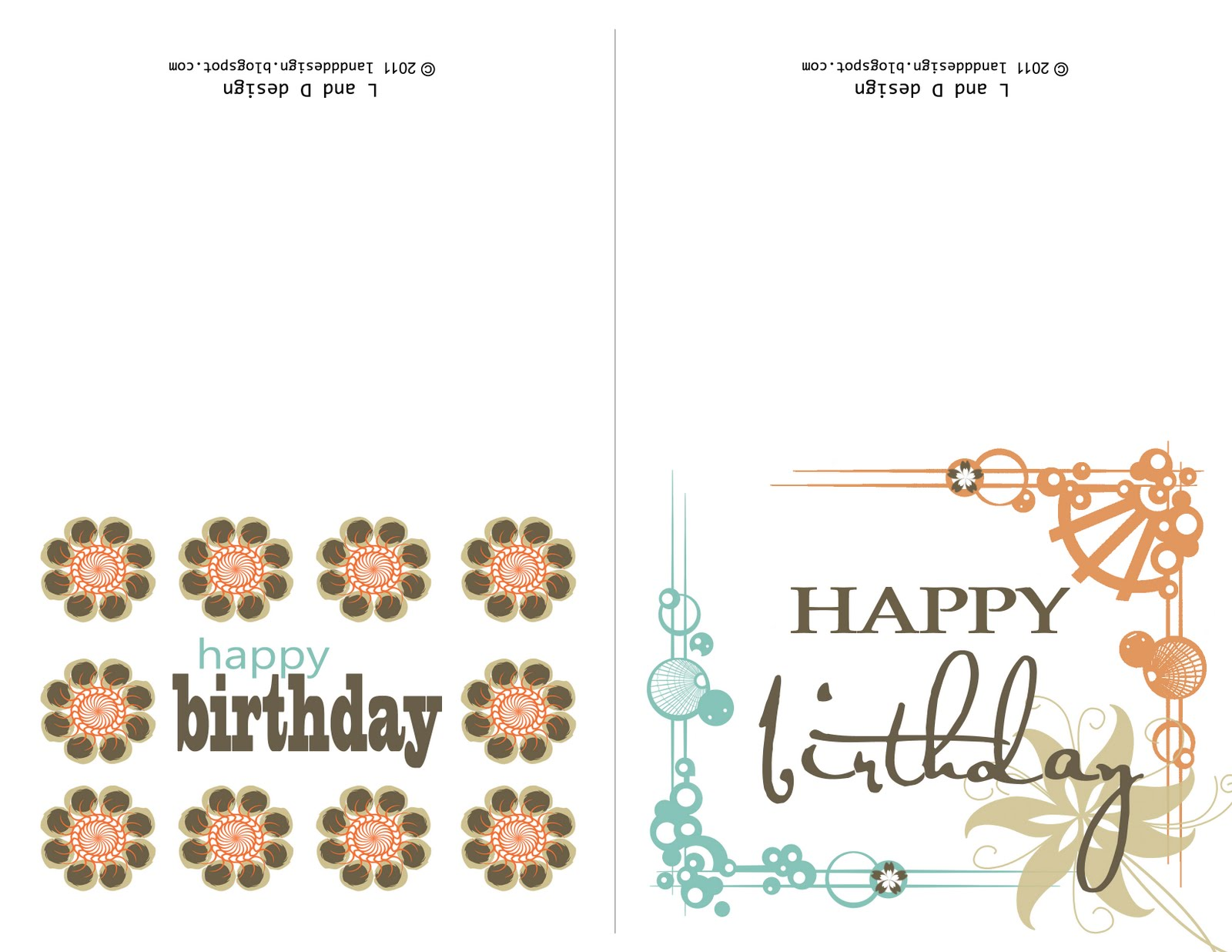 L and D Design Free Birthday card printable – Birthday Cards to Print for Free