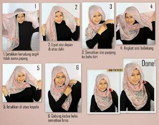hijab untuk wajah bulatdan lebar