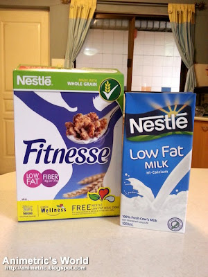 Nestle Fitnesse and Nestle Low Fat Milk