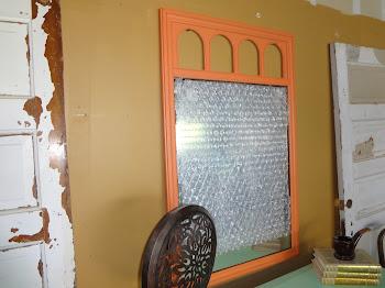 Orange 1960's Mirror- $50