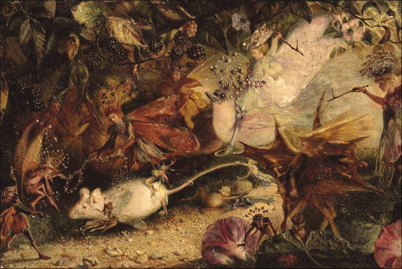 John Anster Fitzgerald 'The Chase of the White Mice'
