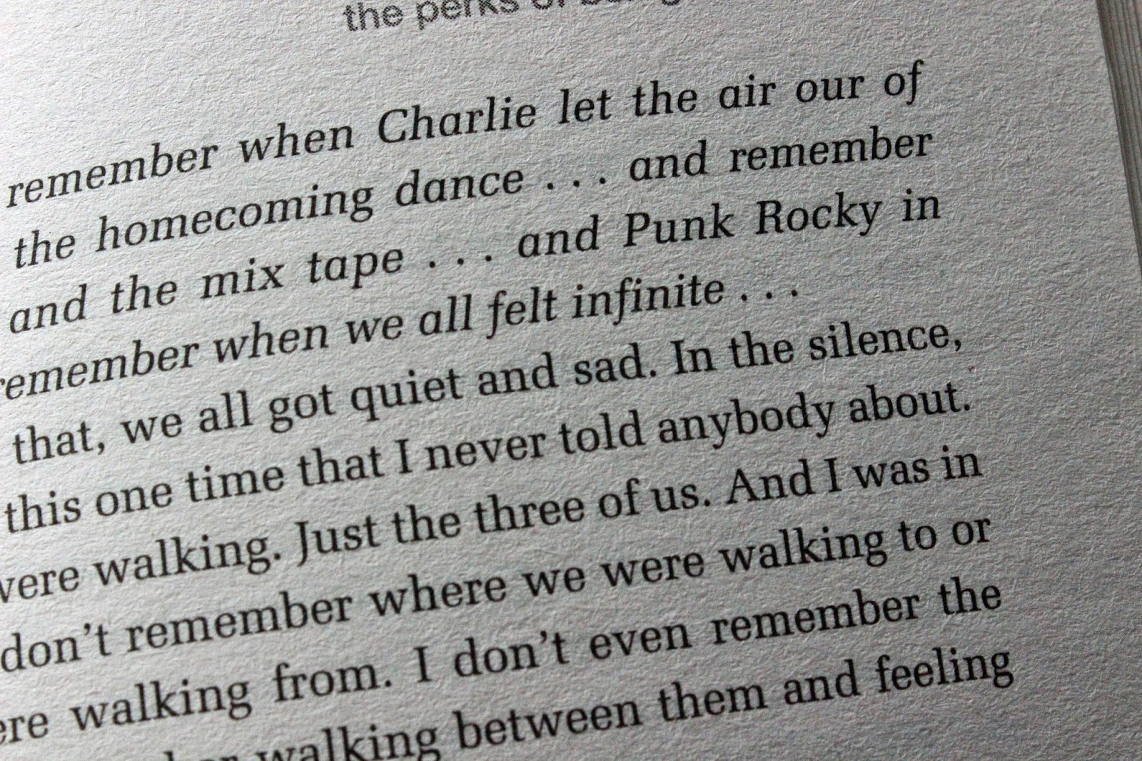 Page from the perks of being a wallflower