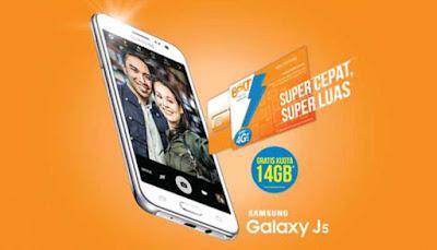 Harga dan Spesifikasi Samsung J5 Paket Internet Bolt! Super 4G LTE