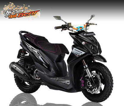 ide modifikasi honda beat f1