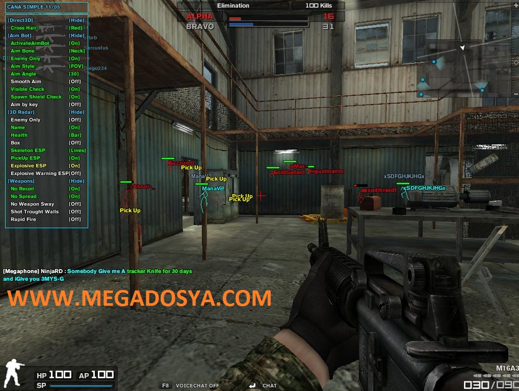 Combat Arms Hile CANA Wallhack Aimbot Multihack indir – Download