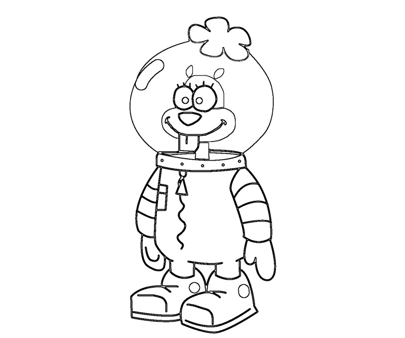 Sandy cheeks cake ideas and designs for Sandy cheeks coloring pages