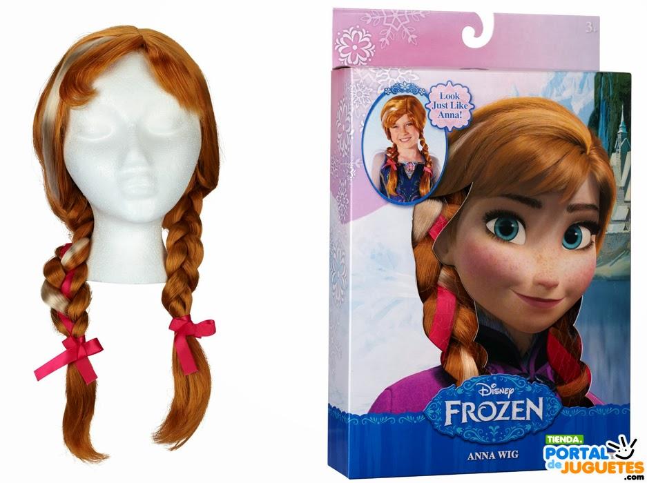 peluca anna frozen niña caja detalle