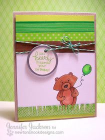 Inky Paws Challenge Card for Newton's Nook Designs using Winston's Birthday Bear