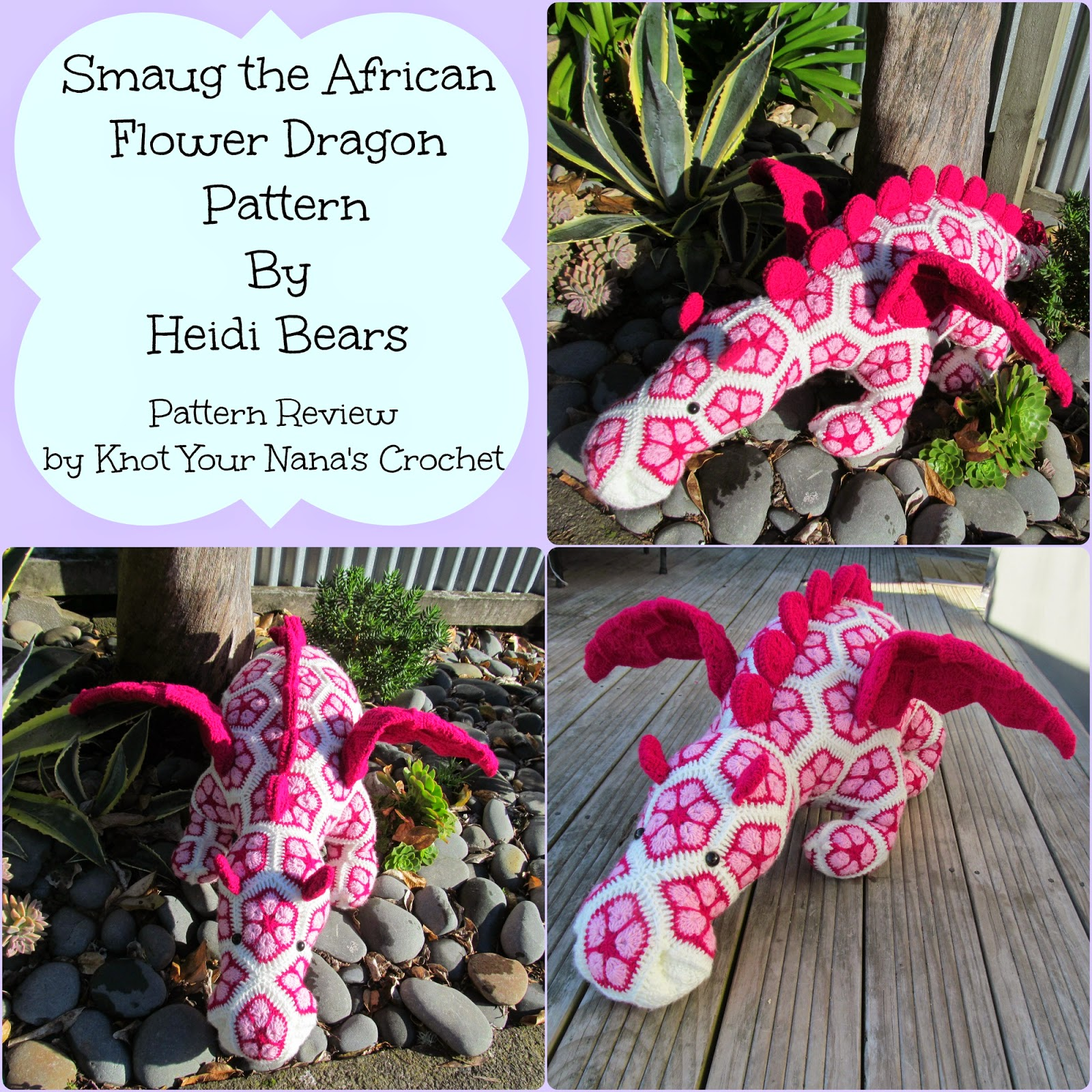 Knot Your Nana\'s Crochet: Smaug the African Flower Dragon Pattern ...