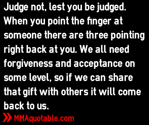 Quotes about judging others