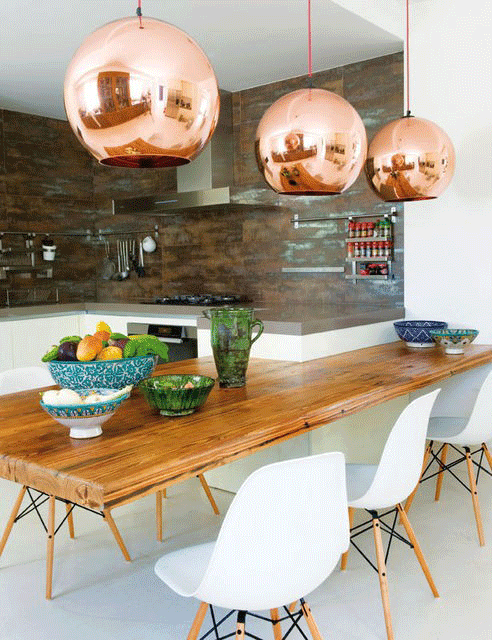 A home in the making inspired copper accents - Kitchen with copper accents ...