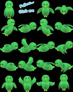 Kumpulan Gambar Burung Twitter Berwarna Hijau