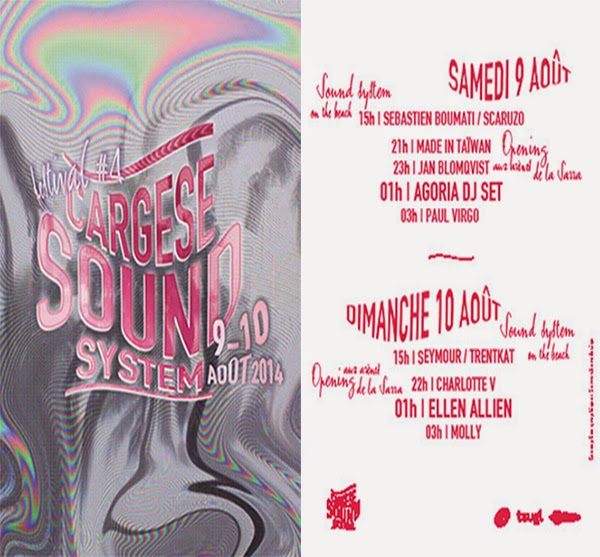 Affiche du festival Cargese Sound System