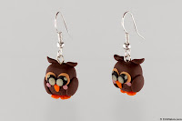 Owl Earrings Comercial Photography