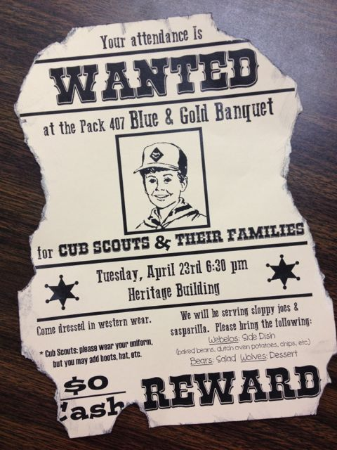 Western Cowboy Theme Cub Scout Blue And Gold Banquet ...