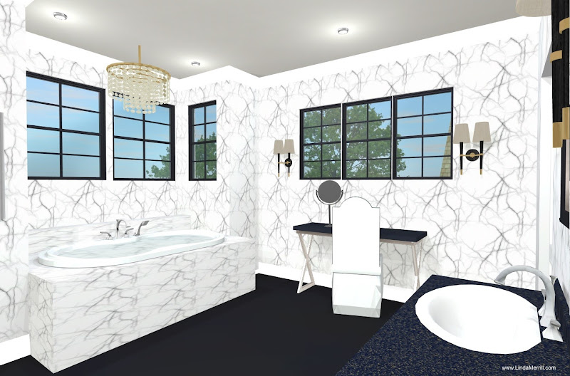 Linda's Dream House: 2nd Floor Plan and Master Bathroom Design title=