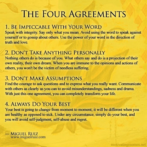 The Green Piece The Four Agreements By Miguel Ruiz
