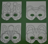 jungle animal masks to make