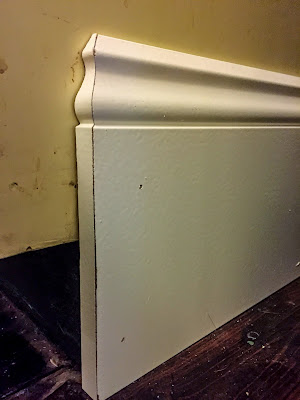 Kitchen Renovation - Refacing Kitchen Cabinets - ending a Baseboard and trim