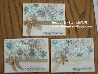 Christmas Card made with Stampin'UP! stamp set: Snowflake Soiree