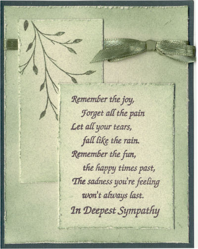 drs designs rubber stamps in sympathy