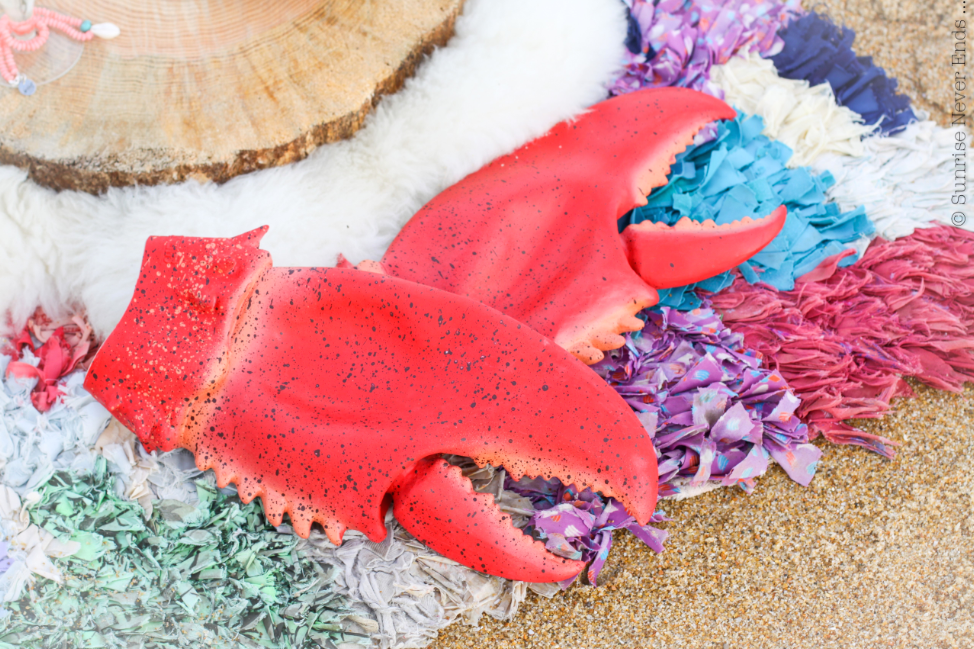 gants,maniques,barbecue,homard,lobster,printemps,plage,picnic,ateliers de sathyne