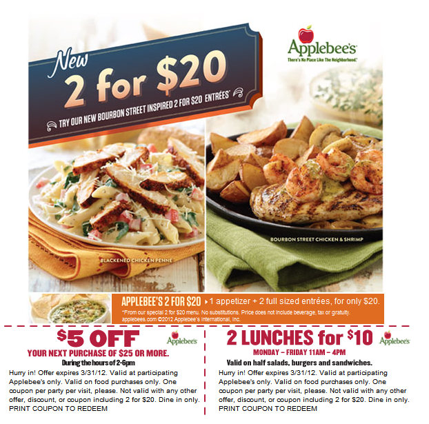 Applebees coupons april 2019