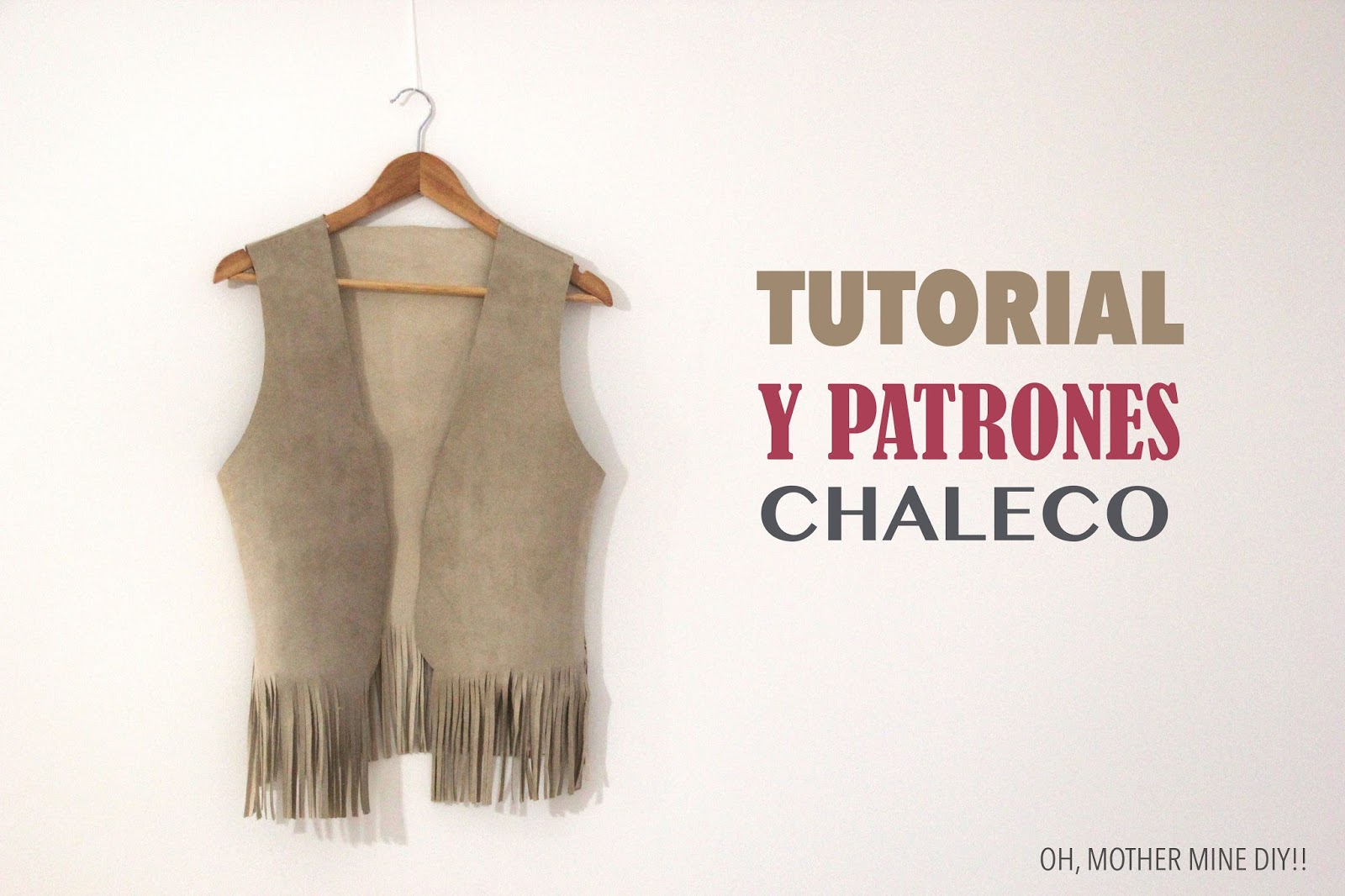 DIY Tutorial y patrones chaleco con flecos - Handbox Craft Lovers ...