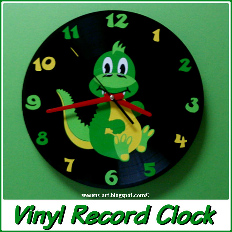 wesens art vinyl record clock schallplatten uhr. Black Bedroom Furniture Sets. Home Design Ideas