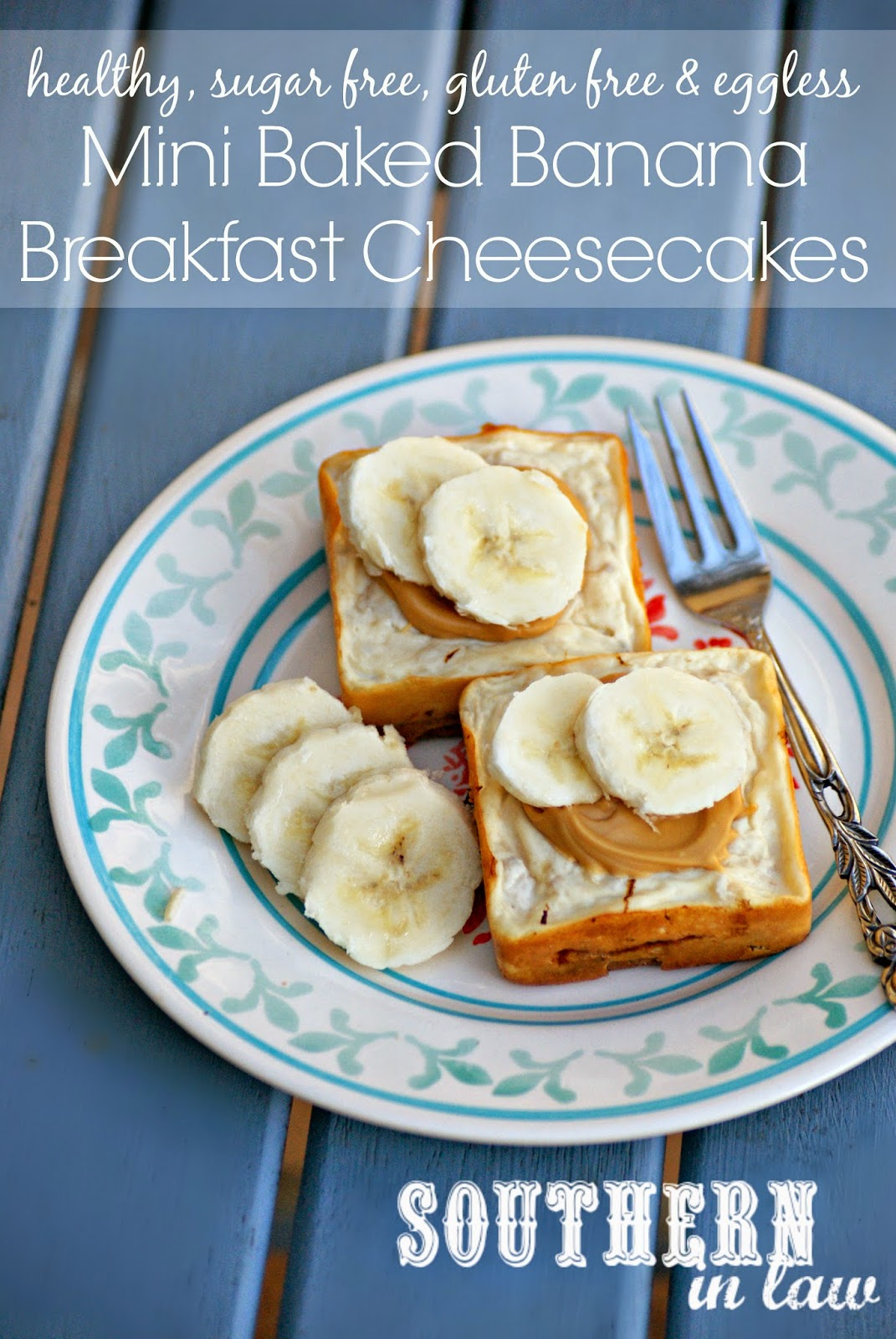 Sugar Free Banana Breakfast Cheesecakes Recipe - gluten free, sugar free, low fat, healthy, eggless, egg free