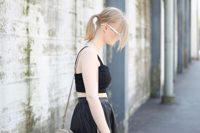 all black summer look