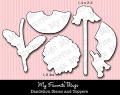 Die-namics MPD Dandelion Stems and Toppers