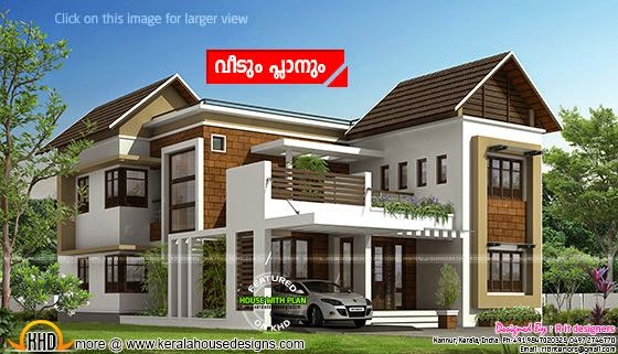 Stylish modern house plan