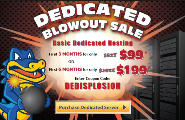 Hostgator Dedicated servers 81 OFF