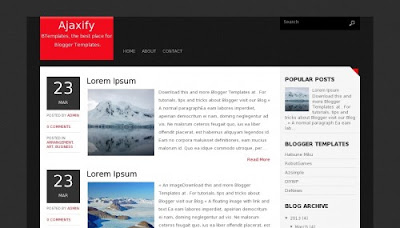 Download Ajaxify Blogger Template