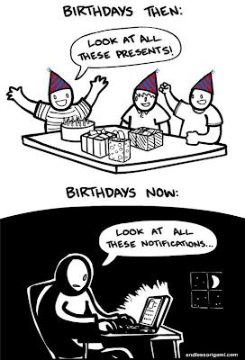 Imagen de los cumpleaños de antes y de ahora