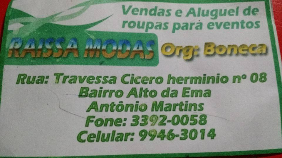 Agora em Antônio Martins tem!